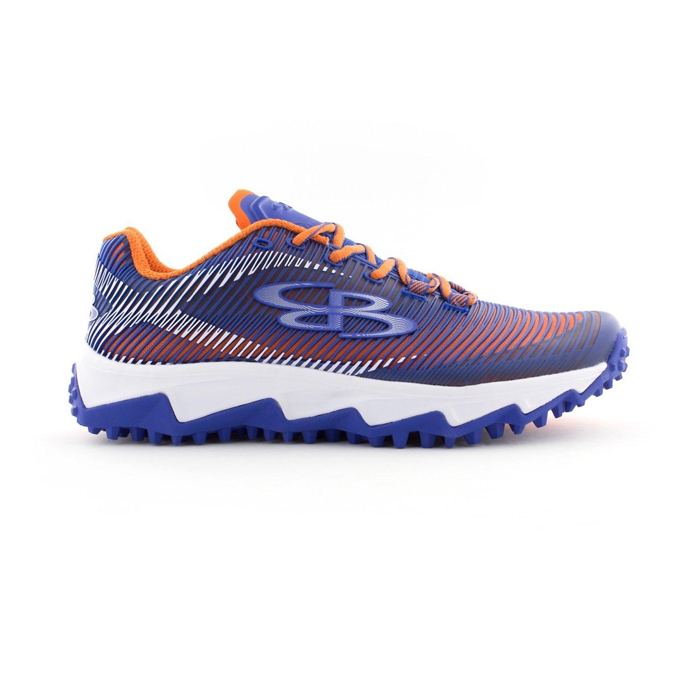 Boombah Men's Aftershock DPS Turf Shoes - 18 Color Options - Multiple Sizes B0767Q5R5Y 13 Royal/Orange