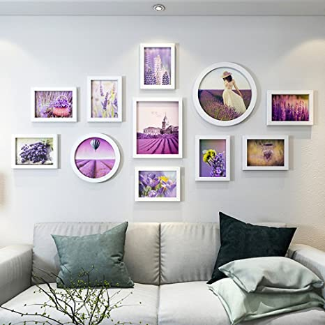Amazon Com Zgp Home Wall Photo Frame Photo Wall Decoration Living Room Bedroom Simple And Modern Photo Wall Ideas Hanging Frame Wall Hanging Assembly Color H Home Kitchen