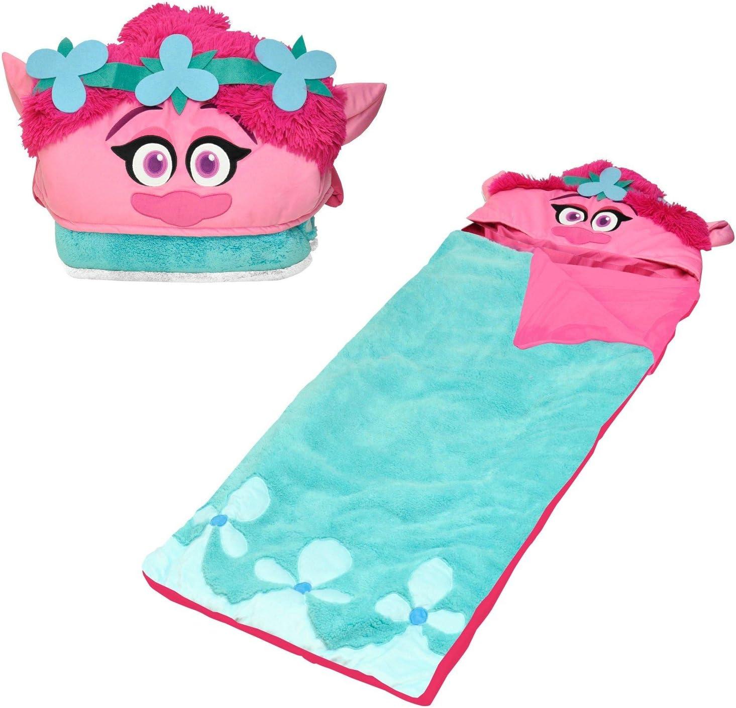 DreamWorks Trolls Sleeping Bag, Pink and Light Blue