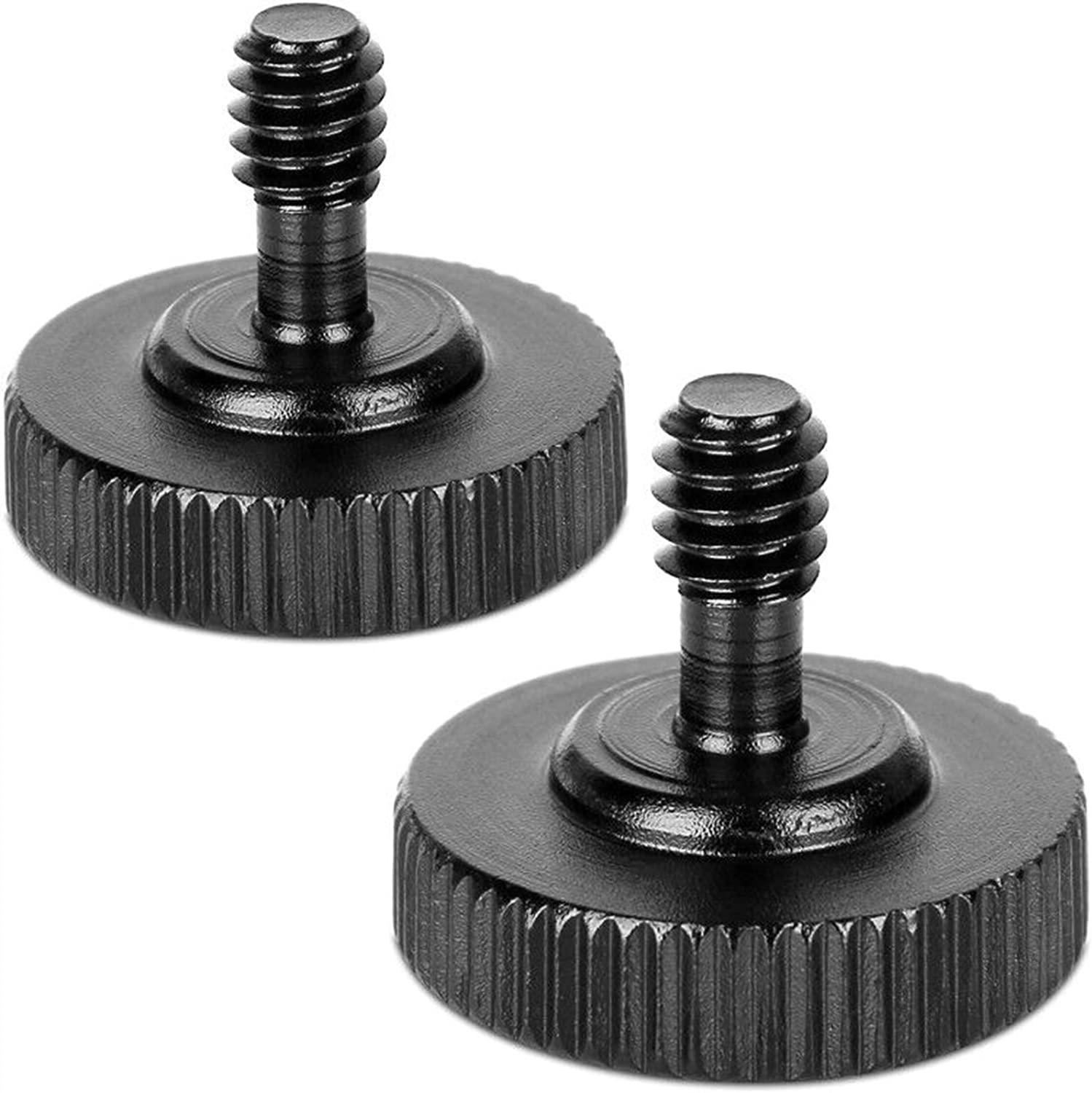 """ChromLives Thumb Screw Tripod Screw Camera Quick Release 1/4"""" Thumbscrew L Bracket Screw Mount Adapter with Bottom 1/4""""-20 Female Thread (Pack of 2)"""