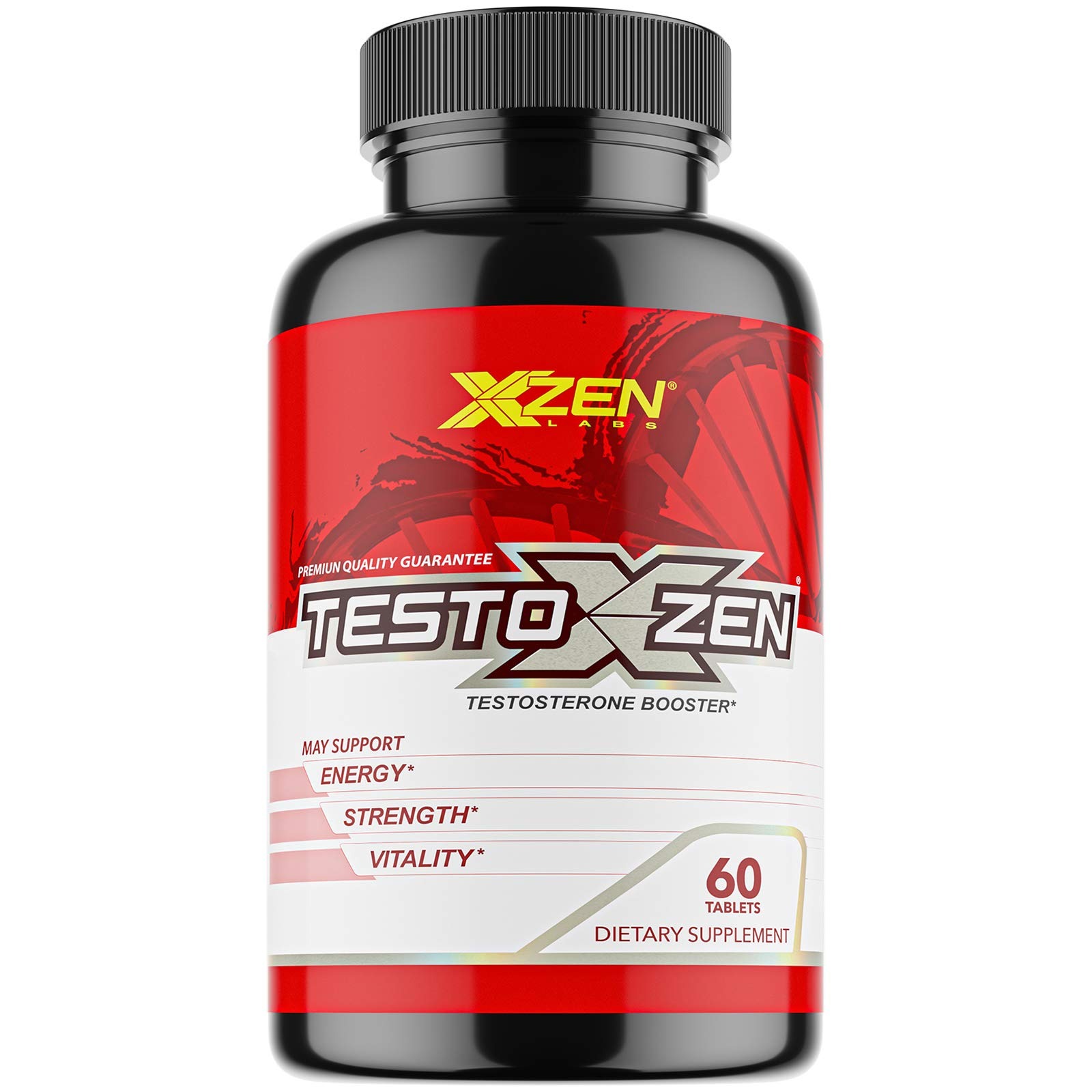 XZEN Testoxzen Testosterone Booster for Men - Premium Natural Dietary Pills for Energy, Strength and Muscle Builder Supplement, 60 Tablets