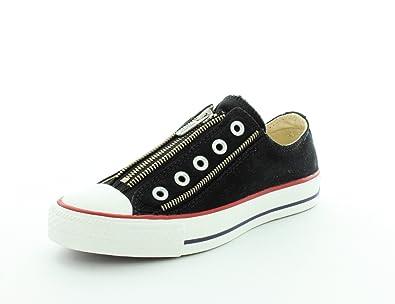 6886de2e601e Converse Womens Chuck Taylor All Star Tri Zip Core Black Sneaker - 6