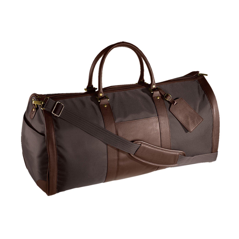 Andrew Philips Leather Nylon Metro Convertible Duffle/Garment Bag in Brown