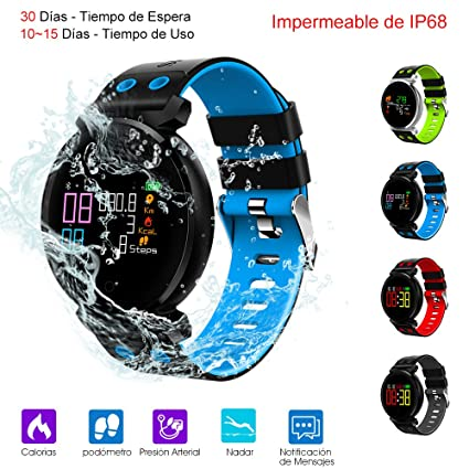 Smart Watch, Reloj Inteligente de Pulsera Mu?eca Impermeable de IP68 Deportivo Bluetooth 4.0