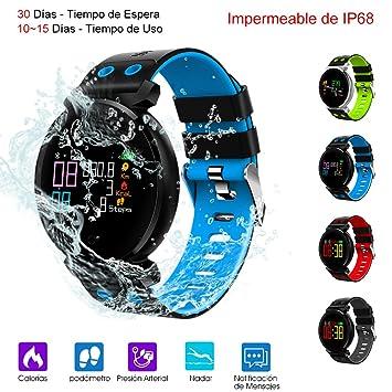 Smart Watch, Reloj Inteligente de Pulsera Mu?eca Impermeable de ...