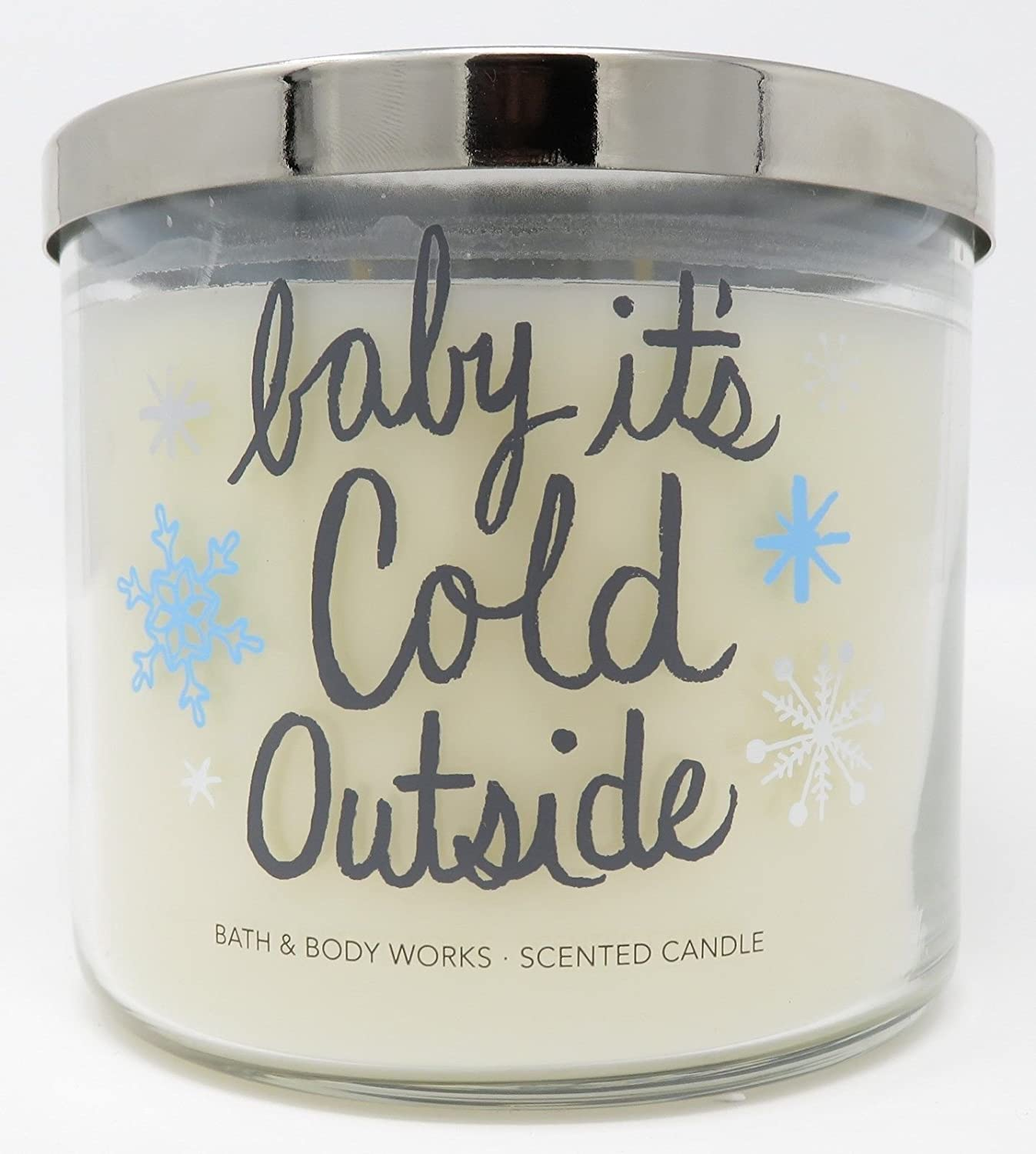 Bath & Body Works Fireside 14.5 oz. 3-Wick Candle - baby it's Cold Outside BBW