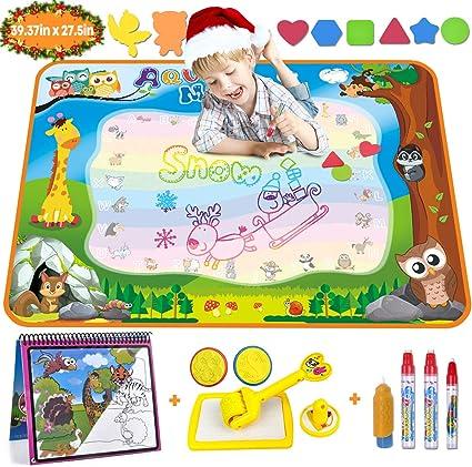 Amazon Com Aqua Magic Doodle Mat Large Water Drawing Mat For Kids