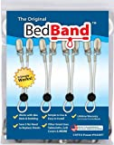 Bed Band Bed Sheet Holder, Gripper, Suspender and Strap, 1 Pack (4 Bands), White
