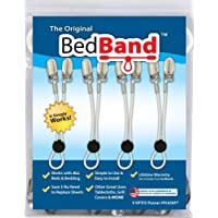 White-Bed Band Not Made in China. 100% USA Worker Assembled.. Bed Sheet Holder, Gripper, Suspender and Strap. Smooth any Sheets on any Bed. Sleep Better. Patented.