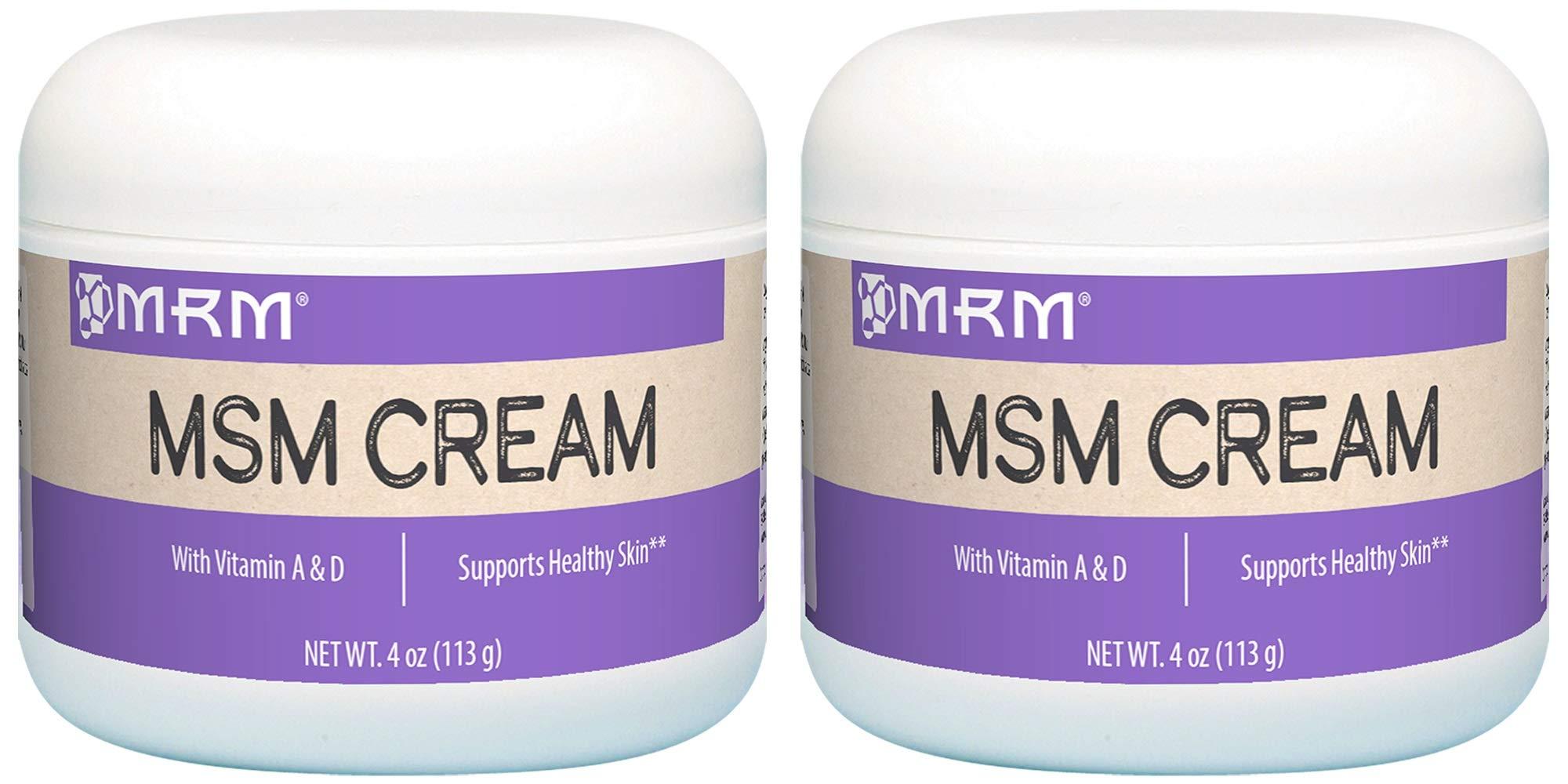 MRM, MSM Cream, Net Wt. 4 Oz. (Pack of 2 (4 oz))