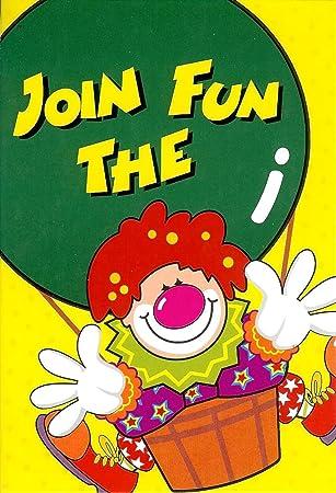 18 Happy Birthday Clown Invitations 3 Packs Of 6 Children S