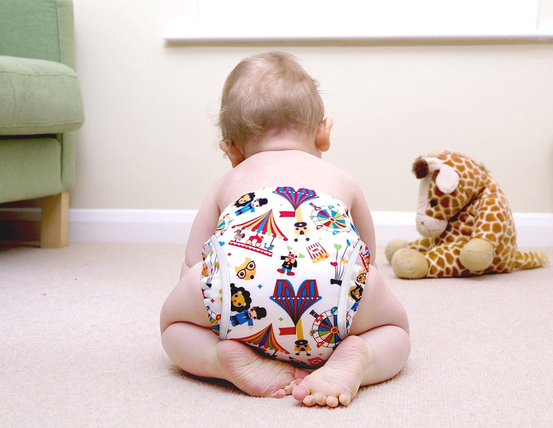 B/éb/é 0 /à 24 mois Multicolore Circus Time Taille 1 Couche-culotte anti-fuite fille Bambino Mio