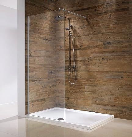 Orca Walk-In Wet Room Shower Panel Screen Enclosure | 8mm Toughened ...