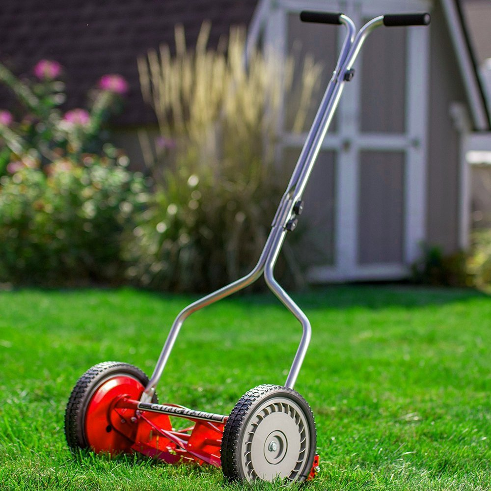 AMGS Push Reel Lawnmowers Garden Equipment Grass Blade Outdoor Cutting Gardening & e-book by Amglobalsupplies