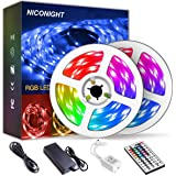 Led Strip Lights 32.8ft 10m Color Changing Non Waterproof LED String Lights with Remote and Power Supply for Home…