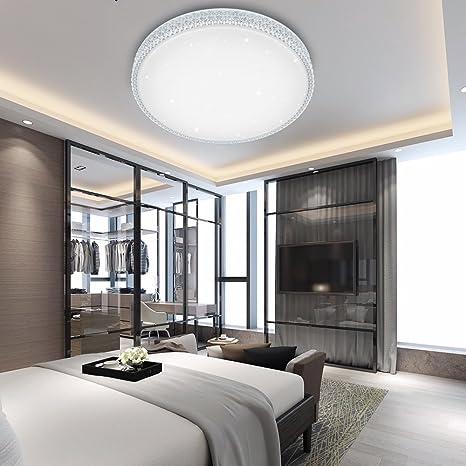 VINGO® 50W LED Kristall Deckenleuchte Sternenhimmel Kaltweiß Starlight  Deckenbeleuchtung Wohnzimmer Deckenlampe Korridor Schlafzimmer Schönes  Mordern ...
