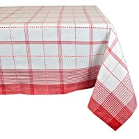 """DII 100% Cotton, Machine Washable, Dinner, Summer & Picnic Tablecloth 52 x 52"""", Seats 4 People"""