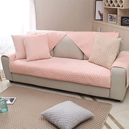 YANGYAYA Plush sofa slipcover,Thick suede sofa cover anti-slip ...