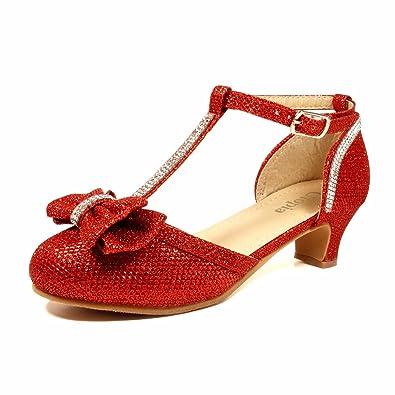7a056d67c7a Nova Utopia Girls Low Medium Heel Dress Sandal Flower Girl Shoes