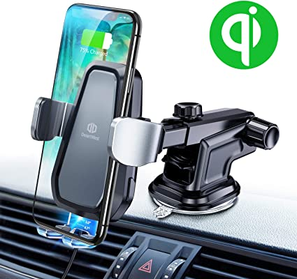 Cell Phone Mount Holder Auto Clamping Compatible with iPhone X//XS//XS Max//XR//8//8Plus//Samsung S10//S10+//S10e//S9//S9+//S8//S8 DesertWest iPhone Wireless Car Charger and etc.