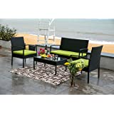 67020d9294f Amazon.com   Best Choice Products 4pc Outdoor Patio Garden Furniture ...