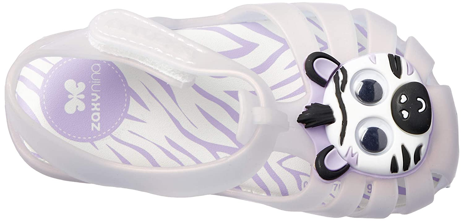 Zaxy Toddlers Frost Purple Animal Sandals
