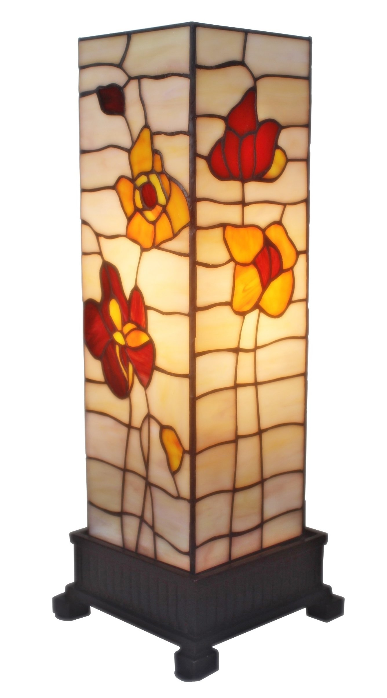 Amora Lighting AM095TL06 Tiffany Style Poppies Table Lamp 18 inches High