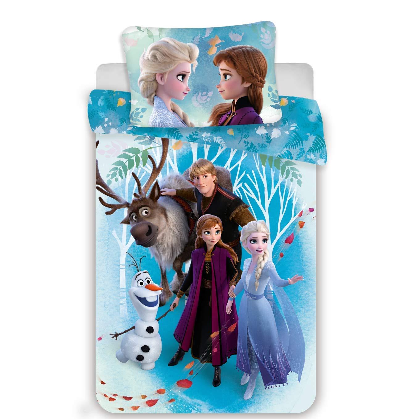 Funda de edred/ón de algod/ón Disney Frozen Familly Juego de Cama