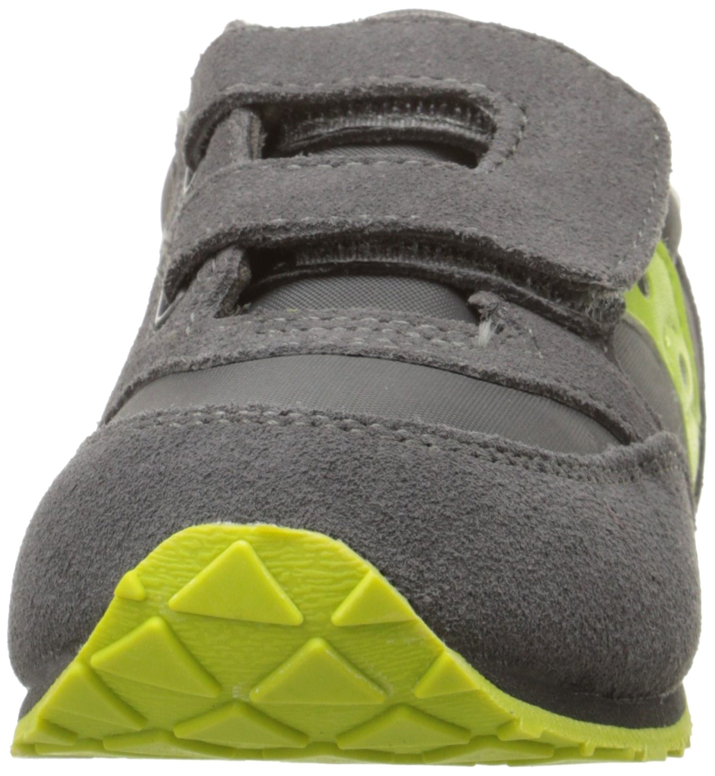 Saucony Jazz Hook & Loop Sneaker (Toddler/Little Kid), Grey/Citron, 9 M US Toddler by Saucony (Image #4)