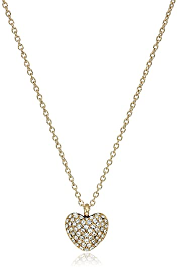 pendant rose and gold necklace kors i crystal tradesy michael