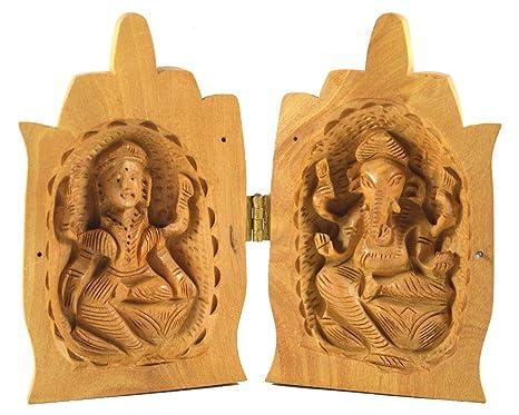 Amazon Com Royal Handicrafts Handcrafted Wooden Namaste Lakshmi