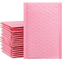 "UCGOU 4x8"" Light Pink Bubble Mailers Padded Envelopes Shipping Bags 50pcs"