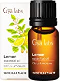 Gya Labs Lemon Essential Oil - Mood Lifter for Healthier Skin & Cleaner Homes (10ml) - 100% Pure Natural Therapeutic…