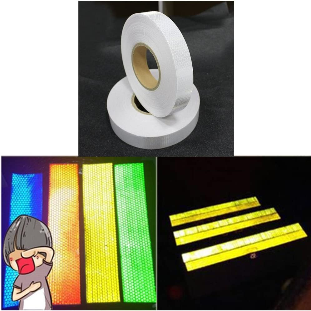 Tuqiang/® 25 mm x 5 m Reflective Tape Self-Adhesive Safety Warning Conspic Uity Night Reflective Tape Film Sticker