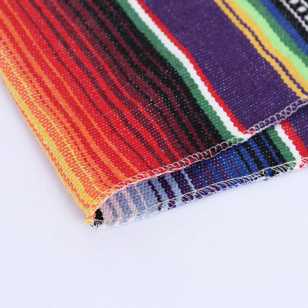 Humorous.P 8 Pieces Mexican 14inx108in Table Runners Cotton Table Runners for Theme Party by Humorous.P (Image #4)