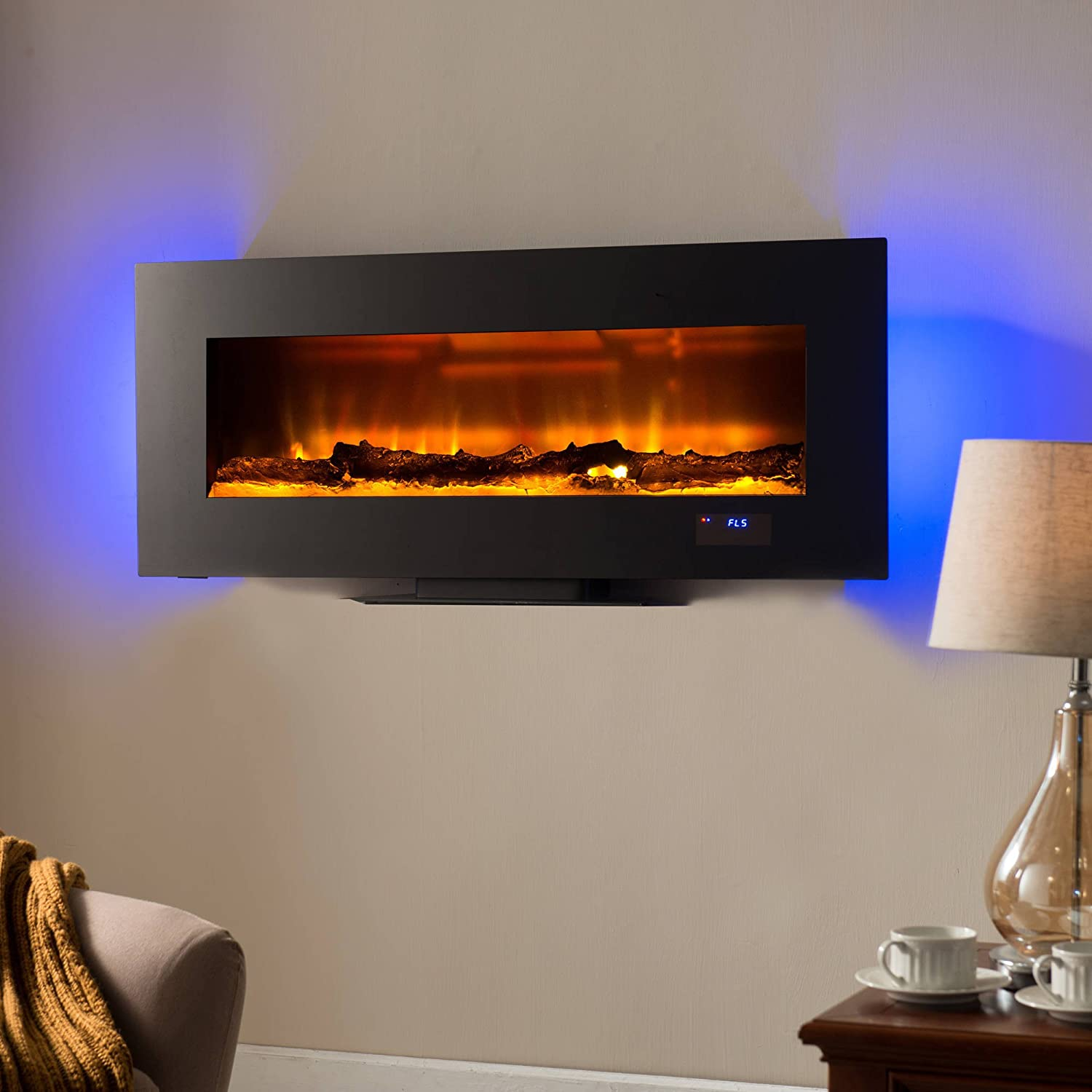 fireplace classic electric wall by hanging flame mounted transcendence