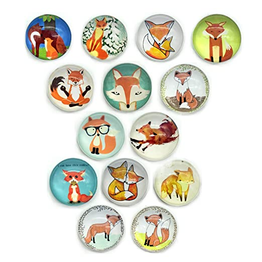guaren US 14 pcs Fox patrón conjunto de imán de frigorífico ...