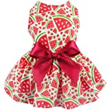 50fe6d80261f Fitwarm Sweetie Watermelon Pet Clothes for Dog Dress Sundress Shirts - Red