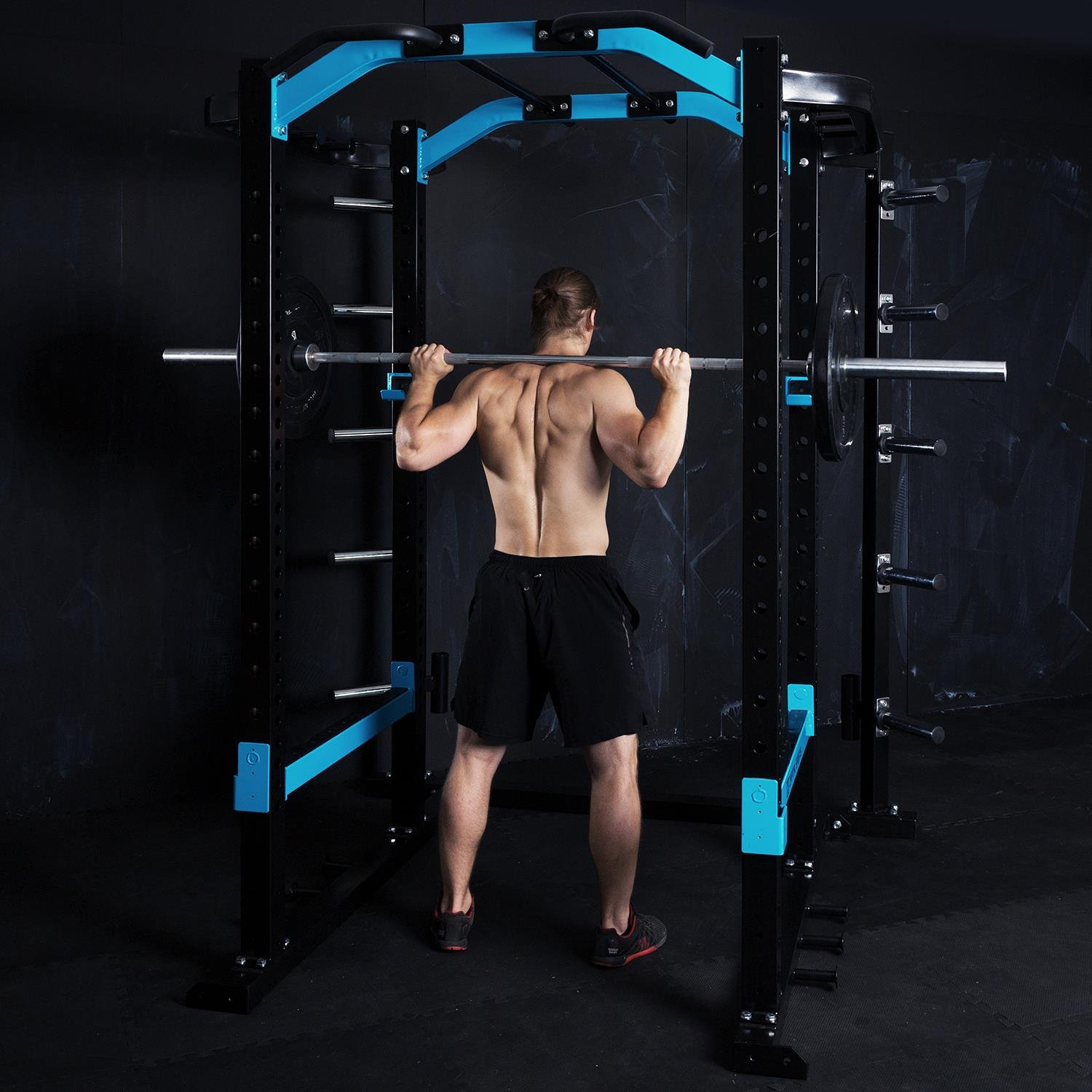 SPORTS CAPITAL Amazor P Rack Monkey Bar Safety Spotter estación multifunción entrenamiento gimnasio (Monkey Bar de 87 cm, barra de tracción con mango ...