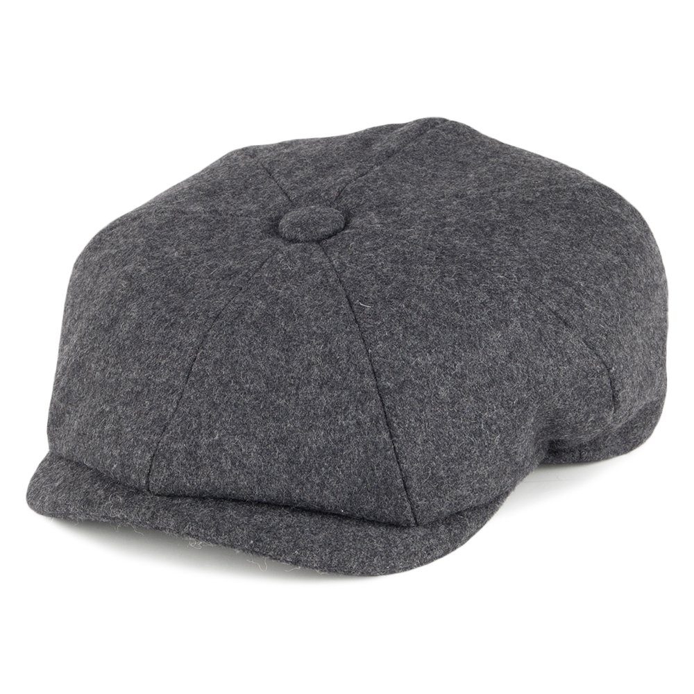 Christys Hats Melton Wool Newsboy Cap - Grey