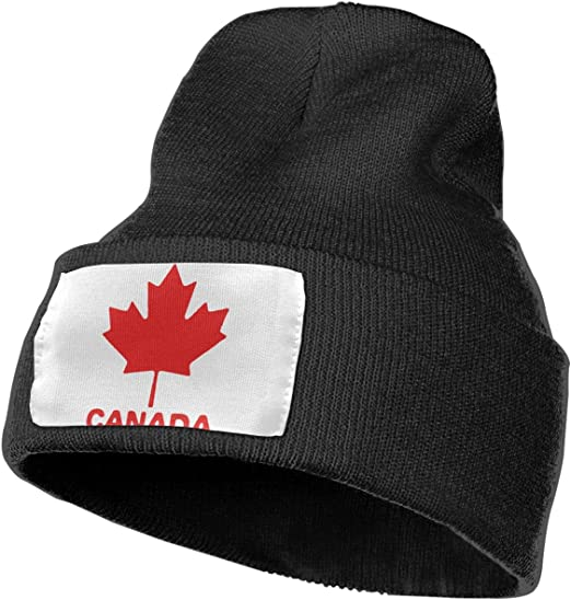 Canada Maple Leaf Women and Men Skull Caps Winter Warm Stretchy Knit Beanie Hats