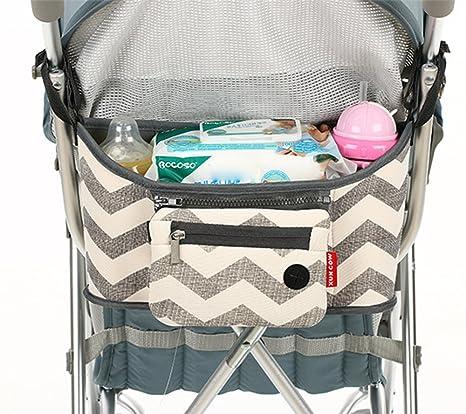 Bebé Cochecito Carrito de bebé bolsa de organizador con soporte para tazas con desmontable correa de