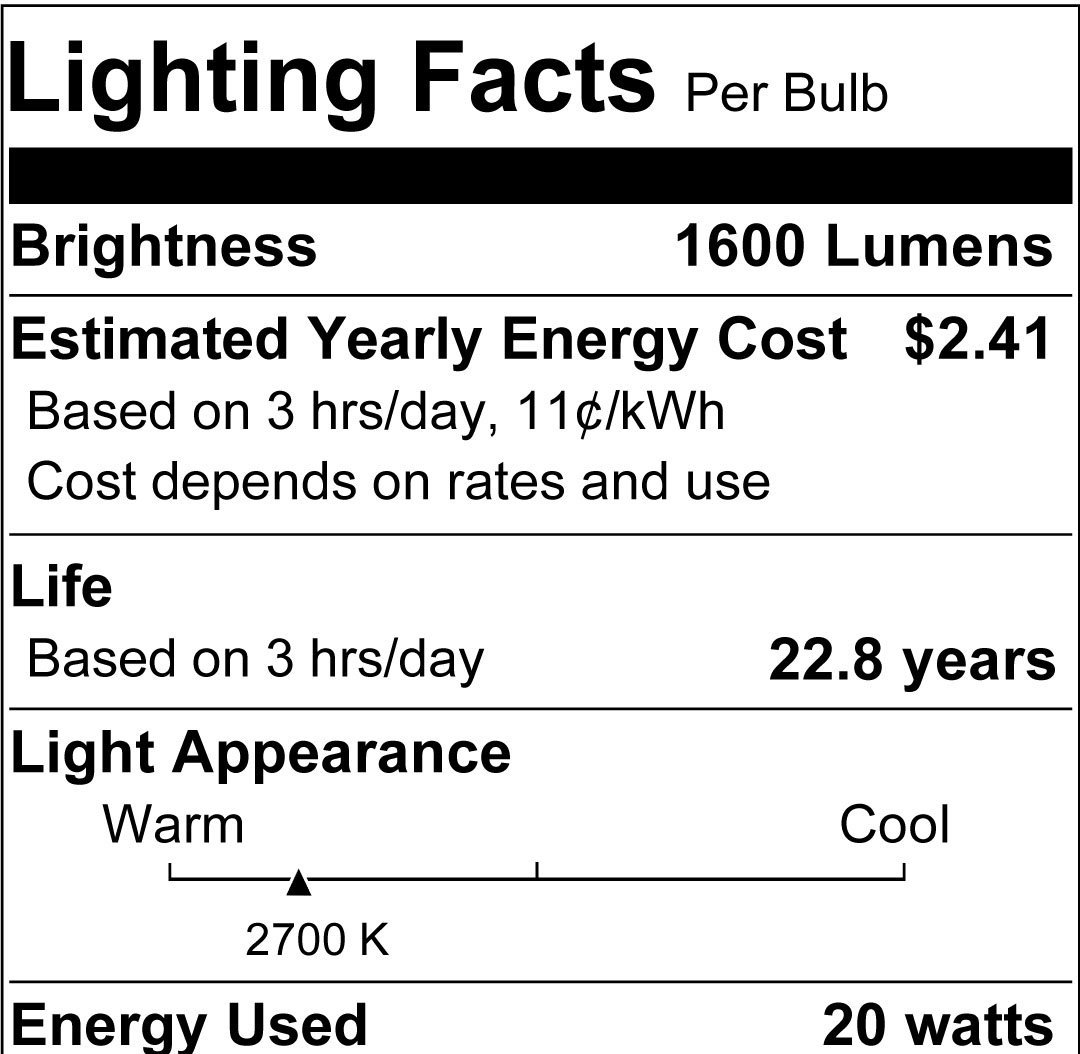 Sylvania 78951 20-watt A21 Ultra LED Light Bulb - Wall Porch Lights - Amazon.com