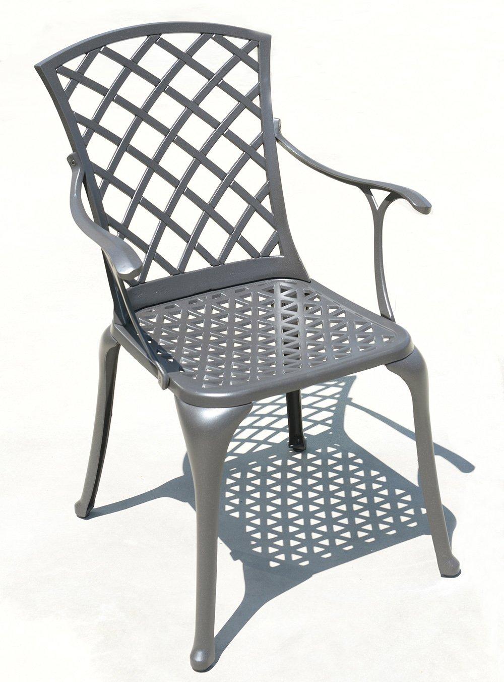Two of MEMPHIS EX01002C Cast Aluminum Outdoor Arm Chair, Bronze Finish FREE Shipping, 2 PCS SET