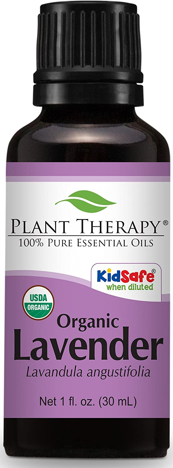 Plant Therapy USDA Certified Organic Lavender Essential Oil. 100% Pure, Undiluted, Therapeutic Grade. 30 ml (1 oz). Plant Therapy Inc