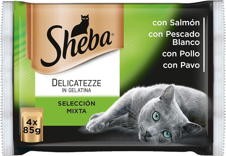 Sheba Multipack de 4 bolsitas Delicatezze para gatos de selección ...