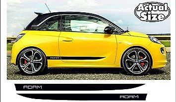 Supersticki Opel Vauxhall Adam Seitenstreifen Racing Stripes