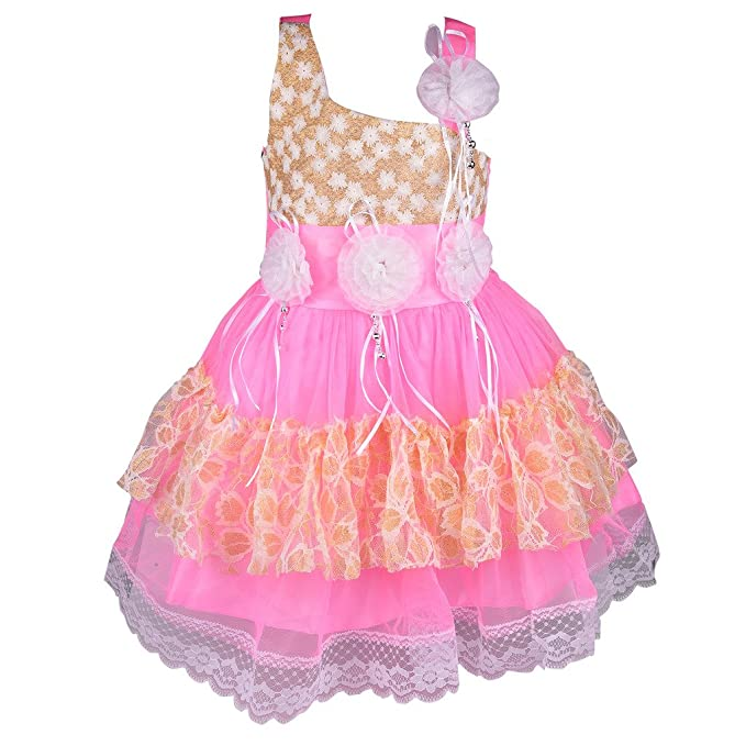 d4ebed21e Wish Karo Baby Girls Party Wear Frock Dress DN fe057bpk: Amazon.in ...