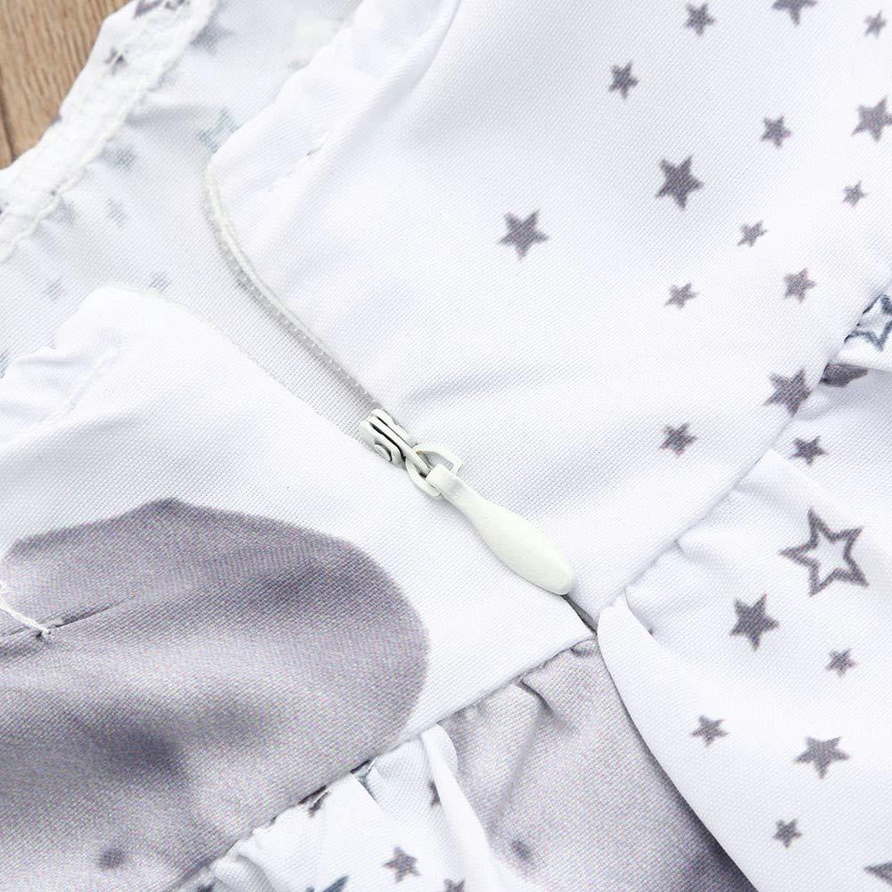 Fartido Sunsuit Romper Baby Girls Childrens Sleeveless Sleeve Elephant Print Dress Princess Dress