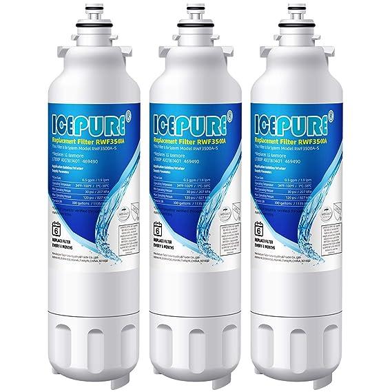 Icepure nevera filtro de agua de repuesto compatible con lg-lt800p ...